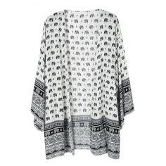 RDevine Casual- Elephant Print Kimono