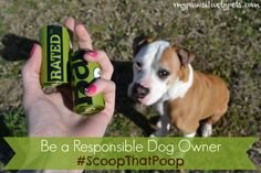 Scooping Poop Is Part of Responsible Dog Ownership #ScoopThatPoop | Giveaway from Earth Rated | Pawsitively Pets