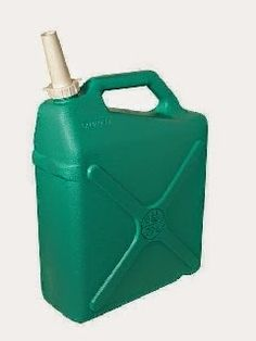 """RELIANCE DESERT PATROL 3 GAL. - Based on the design of a traditional plastc """"jerry can"""" the Desert Patrol is a rugged short term water storage vessel. It comes with a standard 3-piece spout system for accurate bulk pouring. The angled handle is designed for single or two handed gripping for easier lifting and pouring."""