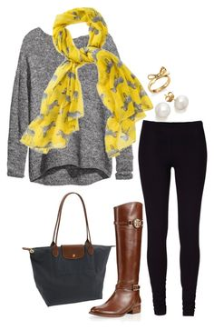 """""""#ootd"""" by the-southern-prep ❤ liked on Polyvore featuring H&M, Tory Burch, Kate Spade and Longchamp"""