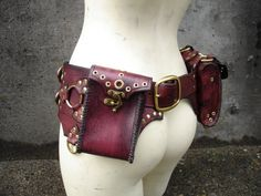 I have been looking all over for exactly this... must save up. Leather Steampunk Belt Bag by MisfitLeather on Etsy, $425.00