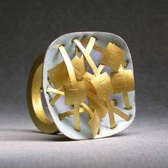 Ring | Jacqueline Ryan. Gold and enamel.