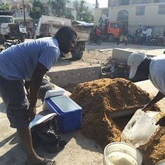 So here is a fun fact for your Friday! Yes, Haiti is a very warm country and most do not have electricity in their home. Which means that most do not have refrigeration or freezers. But they do have ice! Below is a picture taken on a recent trip as we collected ice from a street vendor for our coolers to keep food products cooled as we traveled up into the mountains. Under that big mound of wood shavings is a large block of ice! Pretty ingenious way to keep the ice from melting by use wood…