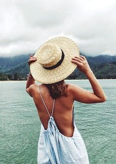 Straw boater hats for lakeside getaways.