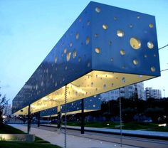 platform canopy:  Fun and modern train station in Alicante, Spain