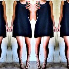 Bcbgmaxazria black dress Super chic black dress with crochet detail by bcbgmaxazria. Great condition! BCBGMaxAzria Dresses