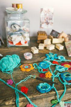 Crochet Flower Garland Inspiration ❥ 4U // hf