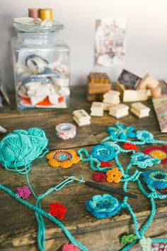 Crochet Flower Garland Inspiration ❥ 4U // hf