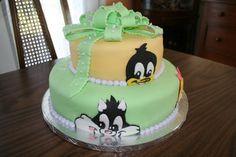 Looney Tunes Babies Shower Cake