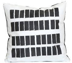 Hand-printed Rectangles Cushion | Mono Online Shop