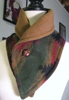 About how to sew a neck warmer. But lighter material would make a nice dickie under a low cut blouse