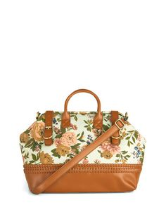 floral tote bag...love the vintage look of it