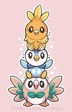 Bird Stack! by OEmilyThePenguinO.deviantart.com on @DeviantArt