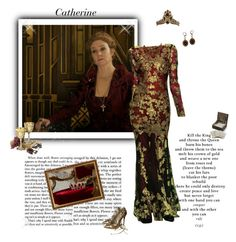 """Reign - Catherine De Medici"" by greerflower ❤ liked on Polyvore featuring Mineral, Tadashi Shoji, KING, Christian Louboutin and Lucky Brand"