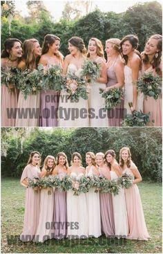 2018 Newest Bridesmaid Dresses, Chiffon Bridesmaid Dresses, Charming Bridesmaid Dresses, TYP0333 #bridesmaiddresses