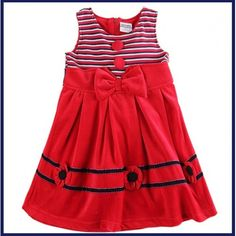VESTIDO ROJO Kids Outfits Girls, Girl Outfits, Kids Girls, Nova Dresses, Girls Dresses, Winter Dresses, Summer Dresses, Wedding Dresses For Kids, Autumn Clothes