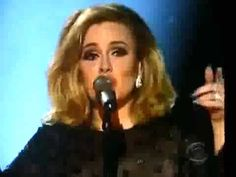 beautiful Adele performs at the grammys
