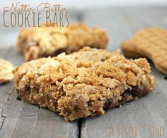 Nutter Butter Cookie Bars from SixSistersStuff.com