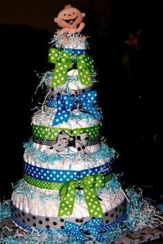 Diaper Cake--Chances of me recreating something like this...slim to none !