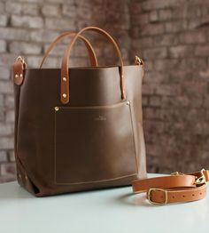 Alex Crossbody Leather Tote Bag by Maycomb Mercantile on Scoutmob