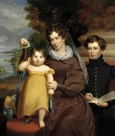 Mrs. Victor René Value (née Ann Lane Bean) With Her Daughter Victoria Matilda And Her Stepson Jesse René by Jacob Eichholtz