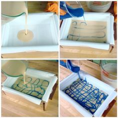 Swirling cold process soap