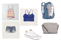 """""""Summer in Spain Outfit 15"""" by okiedance on Polyvore featuring American Eagle Outfitters, Abercrombie & Fitch, Converse, MICHAEL Michael Kors, The North Face, Aerie, women's clothing, women, female and woman"""