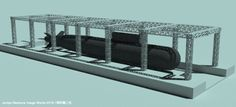 ドックのクレーンを短時間で効率良くモデリングする(3ds Max) Quick modeling: cranes on dockyard by 3ds Max using lattice modifier