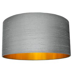 Indian Silk Dupion Lampshades In Ash Grey Pendant Light Fitting, Free Fabric Swatches, Energy Saver, Ceiling Rose, Gold Line, Ash Grey, Light Fittings, Lampshades, Copper