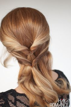 New hairstyle tutorial – A twist on the topsy tail