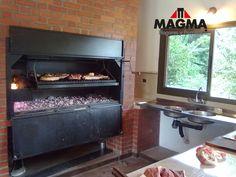 Puertas Rebatibles Para Parrillas Parrilla Exterior, Argentine Grill, Fake Fireplace, Outdoor Kitchen Design, Barbacoa, Swimming Pools, Bbq, Kitchen Appliances, Patio