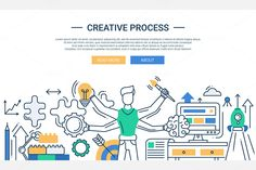 Creative Process Webdesign Banner by Decorwith.me Shop on Creative Market
