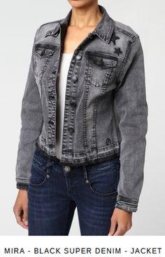 Erhältlich im online Shop von gang-fashion.com mit 8% Cashback für KGS Partner Jeans, Girls, Leather Jacket, Denim, Jackets, Black, Shop, Fashion, Studded Leather Jacket