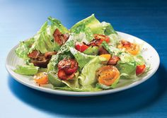 Bacon, Lettuce, and Cherry Tomato Salad with Aioli Dressing: