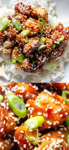 This Easy Sesame Chicken Recipe is a super fast dinner and better than takeout!