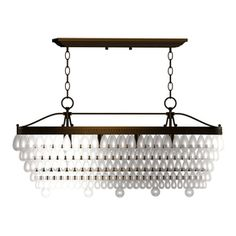 allen   roth�4-Light Oil Rubbed Bronze Crystal Chandelier