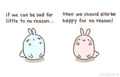 love chibi cute adorable happy sad kawaii blue happiness pink bunny cute animals…