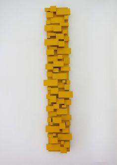 GALLERY Yellow Wall Art, Yellow Walls, Wood Sculpture, Wall Sculptures, Wooden Wall Art, Wood Wall, Wood Craft Patterns, White Acrylic Paint, Modern Art Paintings