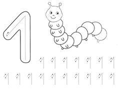 Kindergarten Math Worksheets, Tracing Worksheets, Preschool Activities, Numbers For Kids, Numbers Preschool, Toddler Learning, Teaching Kids, Kids Art Class, Montessori