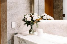 """CDK Stone on Instagram: """"Fabulous display suite at @theoxladenewfarm by Developer Seymour Group and Architects Bureau Proberts. Calacatta Vagli honed vanity, and…"""" Natural Stone Bathroom, Natural Stones, Calacatta, Savior, Architects, Bathrooms, Vanity, Display, Group"""