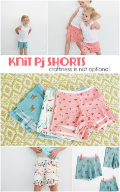knit pajama shorts - craftiness is not optional