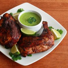"""Pollo a la Brasa (Peruvian Roasted Chicken) - The Daring Gourmet. """"This authentic recipe for Pollo a la Brasa allows you to roast the chicken in the oven and still get that perfeclty crispy skin. It's simply the best! Peruvian Dishes, Peruvian Cuisine, Peruvian Recipes, Peruvian Art, Frango Chicken, Peruvian Chicken, Cooking Recipes, Healthy Recipes, Game Recipes"""