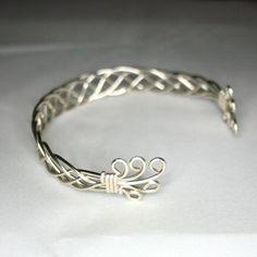 Karen A Celtic Bracelet Celtic Jewelry Wire by WireWizardz