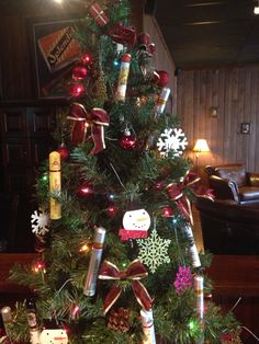 A cigar tube Christmas tree