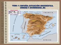España: situación geográfica. Unidad y diversidad.