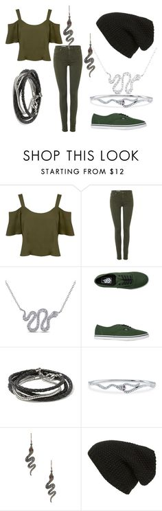 """""""Where going to do the Sytherin way!! Redo!!"""" by vampirekitty34 ❤ liked on Polyvore featuring Miss Selfridge, AG Adriano Goldschmied, Miadora, Vans, Banana Republic, BERRICLE, ZoÃ« Chicco and Phase 3"""
