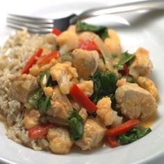 Quick Thai Chicken & Vegetable Curry- subbing cauliflower for chicken