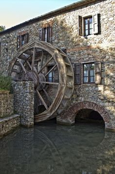 Photograph The White Mill I by Diego Luci on Tuscany, Siena, Chiusdino, Merse, Toscana: Beautiful Buildings, Beautiful Places, Old Grist Mill, Under The Tuscan Sun, Water Powers, Water Mill, Tuscany Italy, Siena Italy, Old Barns