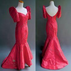 Edgar-Madamba-Formal-Ball-Gown-Philippine-Couture-Mermaid-Dress-Pink-Beaded-S