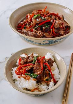 I have a minor obsession with this basil beef; it is an absolutely perfect weeknight meal